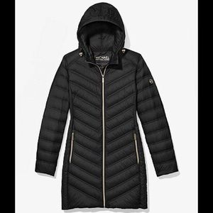 Michael Kors Quilted Nylon Packable Puffer Coat XS